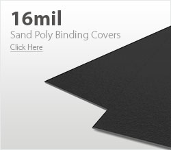 16mil Black Sand Poly Binding Covers
