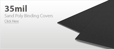 35mil Black Sand Poly Binding Covers