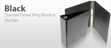 Black Standard View Ring Binders