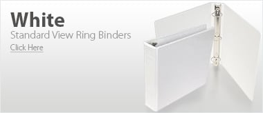 White Standard View Ring Binders