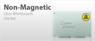 Non-Magnetic Glass Whiteboards